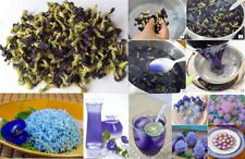 100% Thai Pure Natural Dried Butterfly Pea Tea Blue Flower Clitoria Ternatea 50g