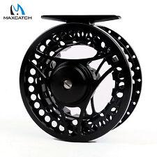 3/4WT Fishing Fly Reel CNC Machined Aluminum Black Fly Fishing Reel & Reel Bag