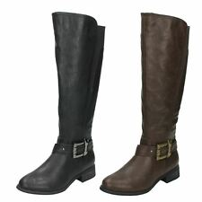 Ladies Spot On 'Knee High Boots'