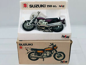 Vintage 1970s Polistil Suzuki 750 Motorcycle 1/24 Scale Boxed Polistil GT51