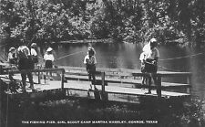 TX 1940's Fishing Pier Girl Scout Camp Madeley Conroe, Texas - Montgomery County