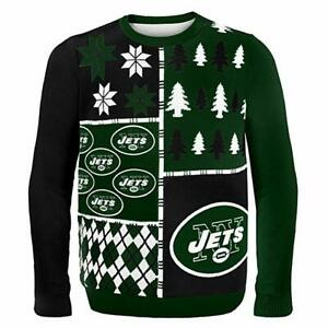 New York Jets Busy Block Ugly Christmas Sweater XXL Brand New w/ Tags