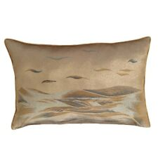 Gold/Silver Queen Size Jacquard Satin Silver Effect Waves Pillow/Cushion Cover