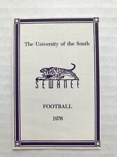 CFB 1976 SEWANEE UNIVERSITY OF THE SOUTH Football Schedule FB College Tennessee