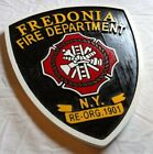 Fire Department Fredonia 3D routed carved plaque wood patch sign Custom Carved