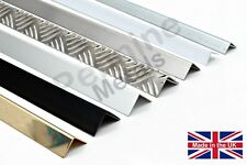 FOLDED ANGLE Wall Corner Protectors - 6 Metal Finishes & 7 Lengths Available