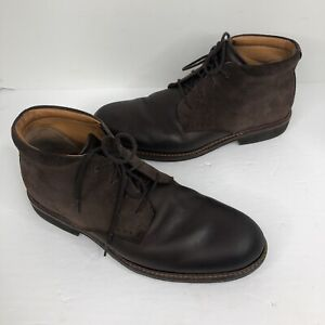 ECCO Brown Leather chukka Ankle Dress Boots EU 42 8.5 9 shoes Men's