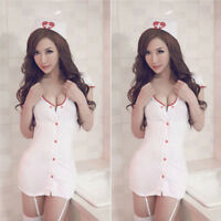 Nurse Fancy Dress Cosplay Club Wear Outfit Costume Sexy Lingerie Adult LadieH_JH