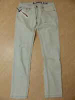 Neue Soulstar Herren Skinny Fit Jeans Gr W34/L32 Bleach Destroy NEU/OVP