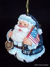 Galleria Lucchese Roman 1870 Roly Poly Patriotic Santa Christmas Ornament