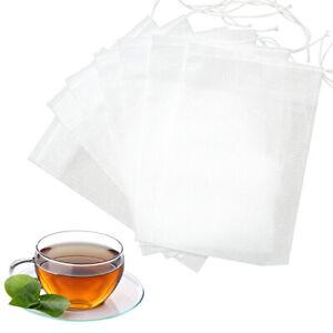 Food Grade Non-woven Disposable Filter Empty Teabags Herb Loose Tea Bag x100 95