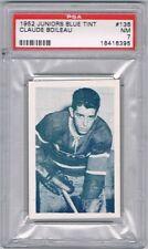 1952 Juniors Blue Tint Hockey Card Montreal #136 Claude Boileau Graded PSA 7