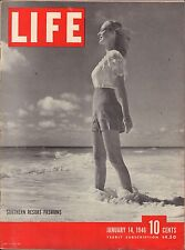 Life Magazine January 14 1946 Birthday Southern Resort Fashions VG 060716DBE