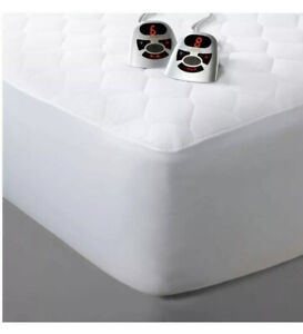 NEW Biddeford QUEEN Quilted Electric Heated Mattress Bed Pad 2 control Auto Off