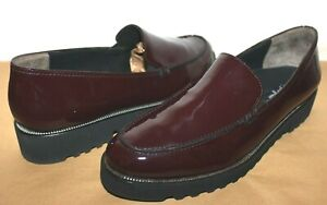❤️PAUL GREEN Austria Ariana Wine Patent Leather Loafer 7.5 10 EXCELLENT! L@@K!32