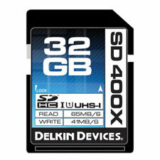 Delkin Devices 32GB SD SDHC 400X High Speed UHS-I Secure Digital Memory Card