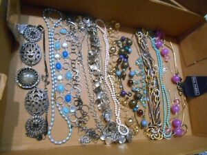 MIXED LOT OF 13 NECKLACES,SOME STATEMENT,FEW SIGNED