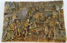 "Recruit Inspection by Wachskunst Wax Sculpture Picture Plaque German 10""x7"""
