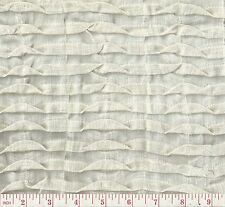 100% Linen P Kaufmann Origami Ivory Solid Sheer Woven Drapery Fabric BTY