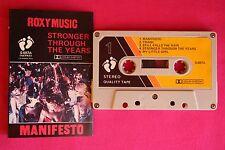 K 7 / Cassette / Roxy Music - Manifesto