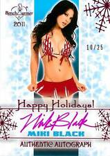 Miki Black 2011 Bench Warmer Holiday Autograph Auto Pink Foil 10/25