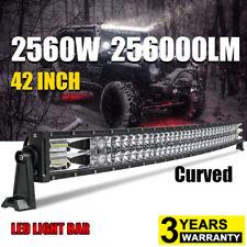 42inch 2560W Curved Led Work Combo Flood Spot Light Bar Driving ATV 4x4 PK 40/44