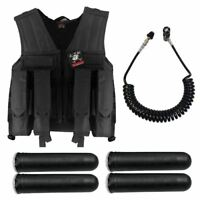 Maddog Tactical Battle Vest Pods & Standard Remote Coil Paintball Package Blk