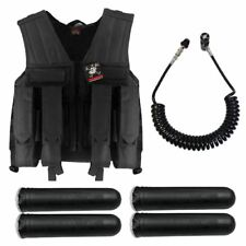 Maddog Tactical Battle Vest Pods & Standard Remote Coil Paintball Package Blk