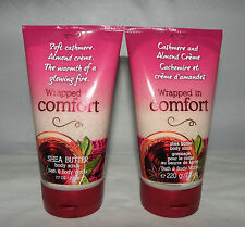BBW Wrapped in Comfort Cashmere and Almond Creme Shea Butter Body Scrub X2