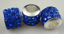 free 2pcs Gorgeous Czech Crystals Dangle Bead fit European Charm Bracelet  s21s