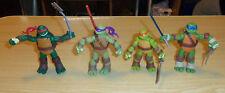 "TMNT Figure Lot - 2012 Raphael, Donatello, Leonardo, And Michaelangelo - 4 1/2"""
