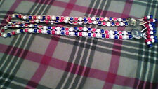 2 Red, White, Blue bead necklaces, Patriotic, 4th of July, vintage, handmade,Usa