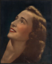 SULTRY LUSH COLORS GORGEOUS BRUNETTE GODDESS ~ 1930s 8x10 TINTED PORTRAIT PHOTO