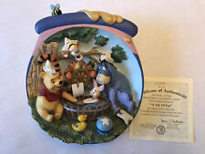 Winnie the Pooh Hunnypot Adventures 3D Plate Bradford Exchange with Coa