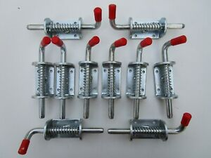 TEN X Spring Loaded Shoot Bolts Trailer Gate Door Catch Stable Horse Box