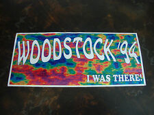 Woodstock '94---I Was There---Bumper Sticker---3x8---Very Hard To Find
