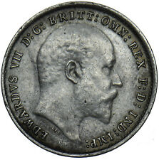 More details for 1904 threepence - edward vii british silver coin - nice