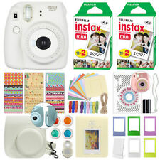 Fuji Instax Mini 8+ Fujifilm Instant Film Camera Vanilla + 40 Film Deluxe Bundle