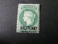 ST. HELENA, SCOTT # 34, 1/2p SURCHARGE ON 6p.GREEN 1884-94 QV ISSUE MNG