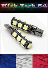 *2 VEUILLEUSE 13 LED SMD CANBUS T10 W5W ANTI ERREUR ODB à 13 LED  BLANC.*