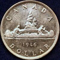 "1946 Very High Grade ""George VI"" Canada Silver Dollar!!  #D0685"