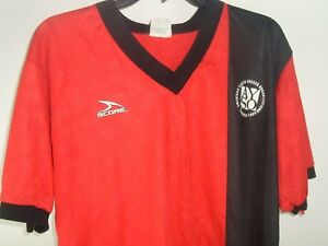 Vintage Jersey American Soccer Score Red XL Football AYSO #14