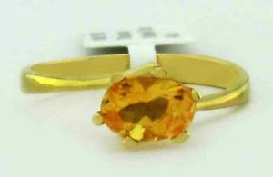 GENUINE 1.12 Cts YELLOW TOPAZ  RING 10K GOLD *** Free Certificate Appraisal ***