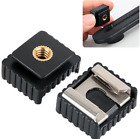 """Flash Cold Hot Shoe Mount Adapter to 1/4"""" Screw for Studio Light Stand Tripod"""