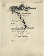 1940 W E Bass LETTERHEAD Texas CITY OF FORT WORTH Harrell Drechsel Trimble Smith