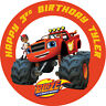 Blaze and the Monster Machines Personalised Edible Image REAL Icing Cake Topper