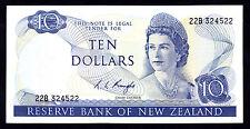 New Zealand NZ R.L. Knight (1975-77) $10 10 Dollars P. 166c EF QEII Note RARE