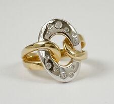 """Extravaganter Ring """"Kettenmuster"""" mit Brillant 0,25 Carat, 585 Gelb- Weissgold"""