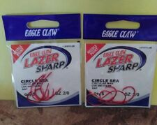 2 packs Eagle Claw L8197G-2/0 Lazer Sharp Circle sea
