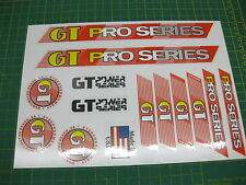 Set of GT Pro Series Stickers RED